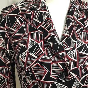 Dress Barn Jackets & Coats - Dress Barn Black, Red & White Blazer Suit Jacket